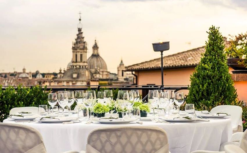 A luxury wedding hotel in rome for unique events , the view is astonishing