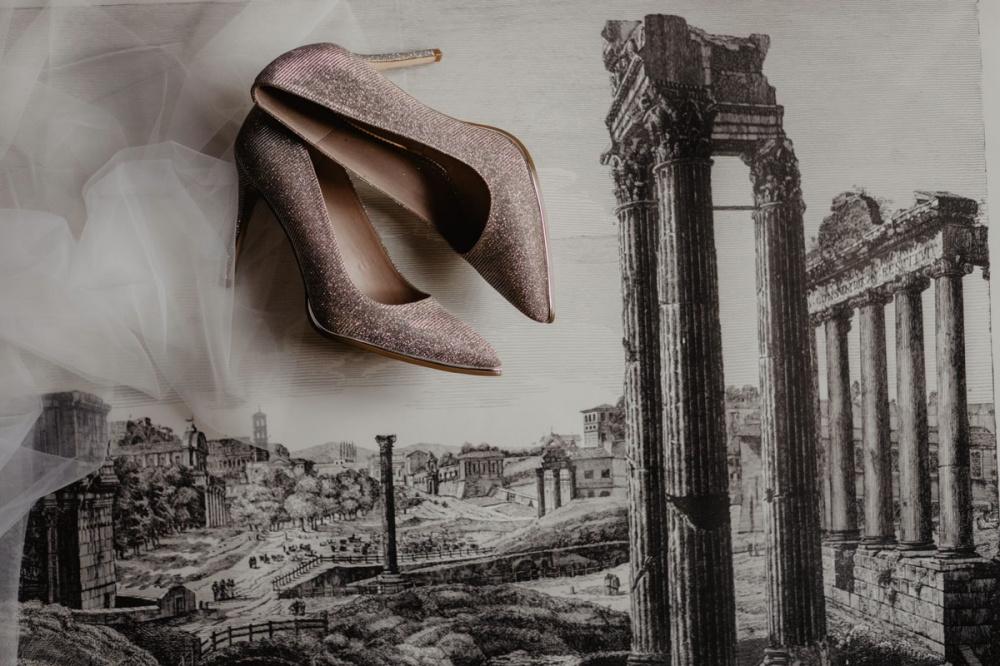 pink elegant bridal shoes