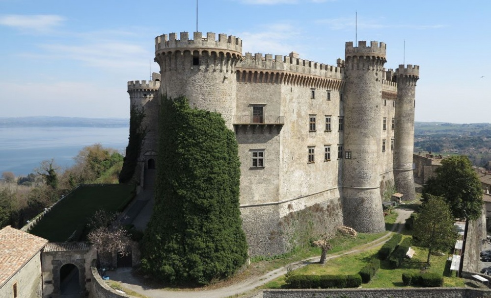 Castle with gardens and terraces and towers perfect for fairy tale weddings