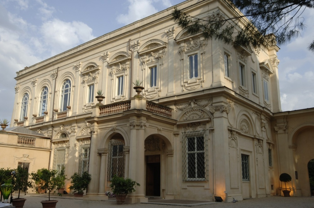 View of the wedding villa in Rome